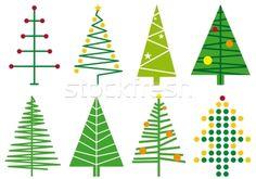 simple christmas tree designs, vector vector illustration © beaubelle (#420207) | Stockfresh