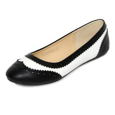 Buy Two-Tone Wingtip Flats and other Flats at yeswalker