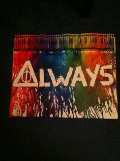 My first crayon art experiment :)
