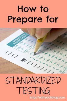 Tips to support students through standardized testing. Preparing students standardized tests: relaxation techniques, open conversation, teaching strategies.