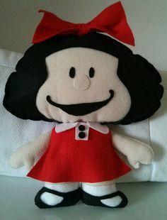 Mafalda em feltro                                                                                                                                                      Mais