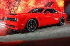 Dodge unveiled what it claims is the fastest muscle car ever: the 2018 Challenger SRT Demon with more than 800 hp! Get the full story at Motor Trend. Challenger Srt Demon, Dodge Challenger Srt Hellcat, Dodge Srt, Dodge Cummins, Dodge Trucks, 2018 Dodge Demon, Automobile, American Muscle Cars, Dodge Charger