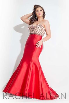 Rachel Allan Curves 7410 Red Prom 2016 Plus_Size