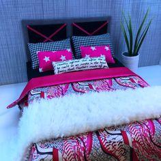 pinkrosemh Bett für Puppenstube Barbie Fashion Royalty Monster High Draculaura