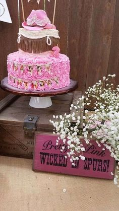 Cowgirl birthday party cake! See more party ideas at CatchMyParty.com!