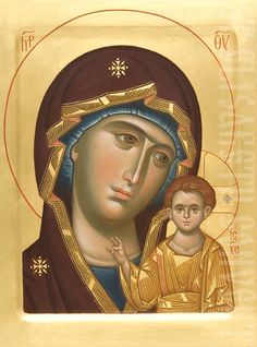 The Icon Painting Studio of St Elisabeth Convent will paint an icon of the Mother of God of Kazan to order, starting from cm. Christian Drawings, Orthodox Icons, Paint Icon, Painting Studio, Our Lady Of Rosary