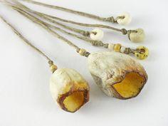 Artisan Ceramic Porcelain Beads sunshine yellow  by greybirdstudio, £24.00