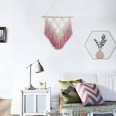 High-quality Homebuilding Magazine - An Excellent Assist In Dwelling Style And Design And Design This Is A Meticulously Weaved Boho Style Macrame Wall Hanging And Dyed Home Decor Styles, Home Decor Accessories, Pink Dip Dye, Furniture Layout, Bohemian Decor, Decoration, Wall Design, Boho Fashion, Wall Decor