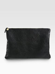 CLARE VIVIER Oversized Leather Clutch