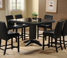 7 Piece Black Dining Room Sets