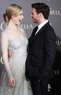 The Cinderella World Premiere was a Disney Fan's Dream Come True-Lily James & Richard Madden (who play Ella & Prince Kit)