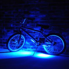 Gobrightz Bicycle Blue LED Light System 4 Mode Flash/Constant 6 Super Wide Beams #gobrightz