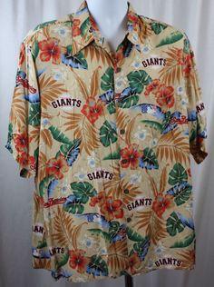 352a0f9f9 Reyn Spooner San Francisco Giants Short Sleeve 100 Rayon Hawaiian Shirt  Size L