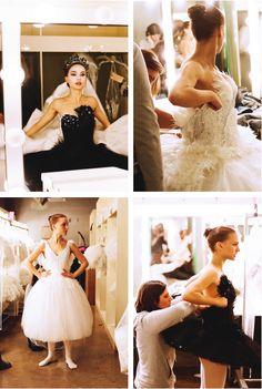 Natalie Portman behind the scenes of Black Swan, 2010