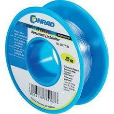 Kunststoff-Lichtleiter, abgepackt Außen-Durchmesser: 1 mm Spule (25 m) Conrad