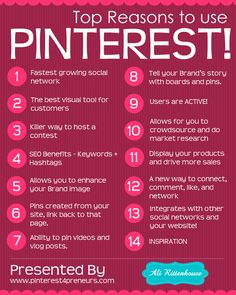 Top reasons to use #Pinterest #Infographic #Infografik #SocialMedia