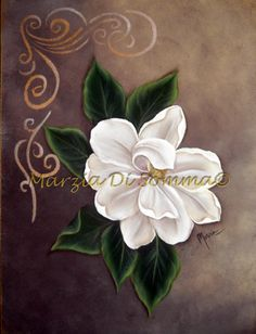 Magnolia One Stroke Painting