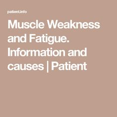 This leaflet looks at types of muscle weakness and discusses the wide range of problems which may cause them, from the very common to the very rare. Muscle Weakness And Fatigue, Types Of Muscles, Fibromyalgia, Fitness Tips, Nutrition, Wellness, Health, Health Care, Fitness Hacks