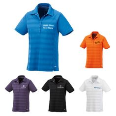 "Promotional Logo Women's Short Sleeve Polo Shirts: Available Colors: Black, Dark Plum, Reflection, Saffron, White Product Size: XS, S, M, L, XL, 2XL. Imprint Area: Centered on Left Chest 3.00"" H x 3.00"" W. Carton Weight: 12.99. Packaging: 38. Material: Micro Polyester. #custompoloshirt #promotionalproduct #womenswear"