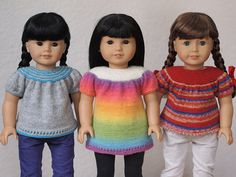 Ready for Spring Top and Tunic for 18 Inch American Girl Dolls - Knitting Pattern