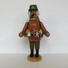 Vintage Erzgebirge Wooden Toy Vender Smoker by jewelryandthings2