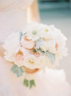 soft and romantic bouquet... photo by http://jenhuangphoto.com