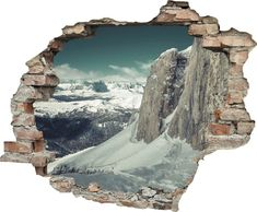 Natural Scenery, 3d Wall, Wall Sticker, My Room, Wall Design, Green And Grey, Mount Rushmore, Wall Decor, Mountains