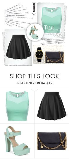 """""""My sister creat that outfit :D"""" by elusiin ❤ liked on Polyvore featuring Call it SPRING, STELLA McCARTNEY, Larsson & Jennings and Katie"""