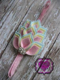 Fieltro Diadema - Under the Sea - 100% EE.UU. hizo sentir - capas de fieltro flor diadema - mezcla de fieltro de lana - infantil del bebé Infante Niño Adolescentes Adulto