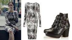 most of the clothes Effy wore in Skins Fire are from topshop! Effy wore this exact dress from topshop, it's sold out but you can buy it here Effy wore this exact dress from topshop too, it's sold out. Effy Stonem Style, Skins Fire, Office Outfits, Work Outfits, Buckle Boots, Animal Print Dresses, Character Outfits, Grunge Outfits, Work Fashion