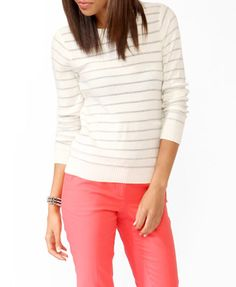 Metallic Stripes Sweater | FOREVER 21 - $19.80 (also in Mint)