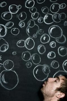 bubbles on the wall