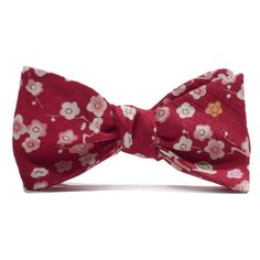 Red Japanese Flower Bow Tie | Taylor Stitch