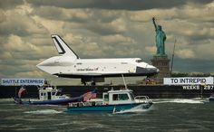 Space Shuttle Enterprise Move to Intrepid