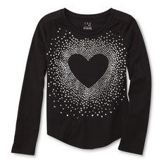 Canyon River Blues Girls' Embellished Shirt - Heart