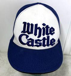 ee686b7de3c White Castle Embroidered Hat Cap Restaurant Hamburger Logo 3D  WhiteCastle   HatCap