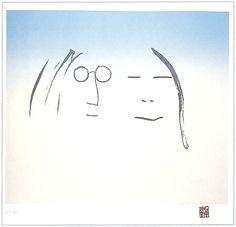 """""""Two Is One"""" Lithograph by John Lennon available at the R. Michelson Galleries or at rmichelson.com"""