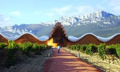 Calatrava's Bodegas Ysios Winery...a pixelated extension of the natural environment