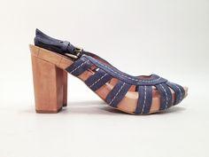 Sandalia madera y tiras piel One of 2 T.38 - 39 euros - Colección Reestreno