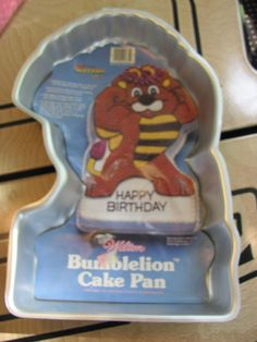 1980s Wilton cake pan Bumblelion from The Wuzzles