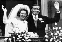 Princess Beatrix of Netherlands marries Claus von Amsberg in 1966.