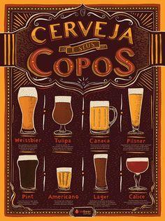 e seus Copos Beer Brewing, Home Brewing, Brew Pub, Beer Tasting, Wine And Beer, Vintage Advertisements, Teacher Photo, Bartender, Craft Beer