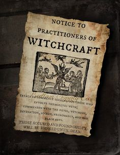 1692 Witch Trials Notice by BedlamSupplyCo on Etsy