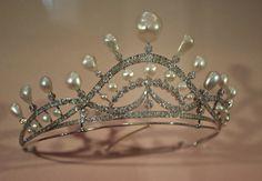 Diadème Perles Fines, Diamants, Or, Argent Joseph Chaumet vers 1930