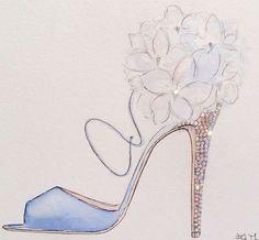 Shoe Sketches, Fashion Sketches, Fashion Art, Fashion Shoes, Fashion Accessories, Fashion Design, Watercolor Disney, Flower Shoes, Shoe Art