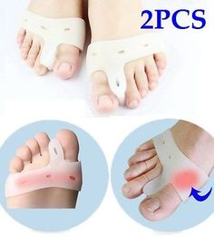 Cerkos Gel Toe Separators Straightener Metatarsal Pad Feet Care