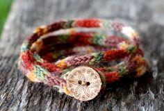 Women's Wrap Bracelet - KNITTING PATTERN - Rustic I Cord. $1.99, via Etsy.