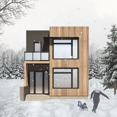 Guest House Plans, Narrow Lot House Plans, 2 Storey House Design, House Front Design, Stair Dimensions, Insulated Concrete Forms, Building Section, Contemporary House Plans, Apartment Plans
