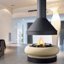 open concept fireplace