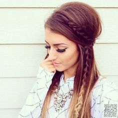 Boho-Chic Hairstyle for Long Hair